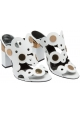 Pierre Hardy high heel sandals in white Leather