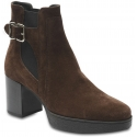 Tod's Women's ankle boots in brown suede leather with square heel