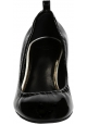 Lanvin heeled pumps shoes in black Patent Leather