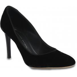 Giuseppe Zanotti Women's pumps shoes in black velvet with stiletto heel