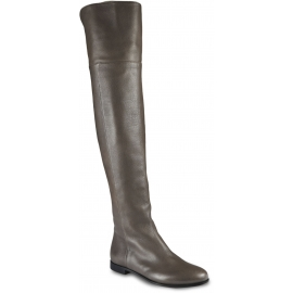 Jimmy Choo Women's over the knee boots in gray leather with side zip