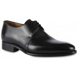 Carlos Santos Men's formal lace-ups derby shoes in black calf leather