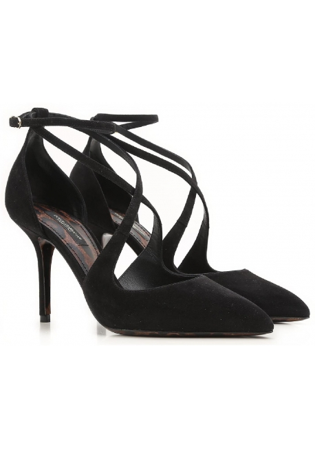 Dolce&Gabbana high heel sandals in black Suede leather