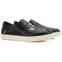 Dolce&Gabbana men's slip-on sneakers in black Leather