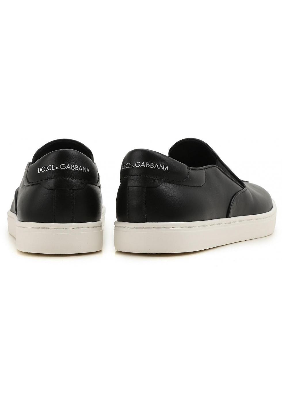 ... Dolce&Gabbana men's slip-ons in black Leather ...