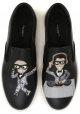 Dolce&Gabbana men's slip-ons in black Leather