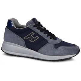 Hogan Interactive men's sneakers in light blue suede