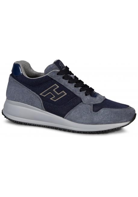 Hogan Interactive men's sneakers in light blue suede