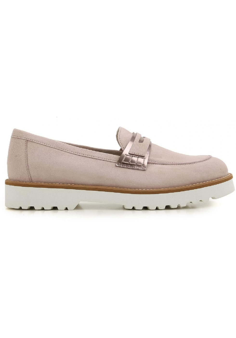 343cd554b6 Hogan women's loafers shoes in pink suede leather - Italian Boutique