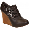 Chloé high wedges pumps in Dark Brown Leather