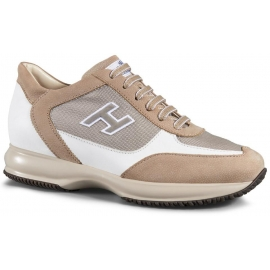 Men's Hogan Interactive in beige nubuck and leather