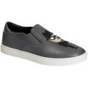 Dolce&Gabbana men's slip-on sneakers in grey Leather