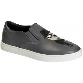 Dolce&Gabbana men's slip-on sneakers in grey Leather