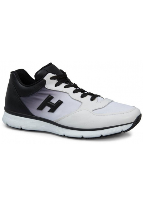 Hogan sneakers in white leather with black gradation