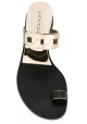 Casadei slippers loop toe in black Leather