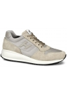 Hogan Interactive N20 Men's sneakers shoes in beige Leather Suede and Fabric