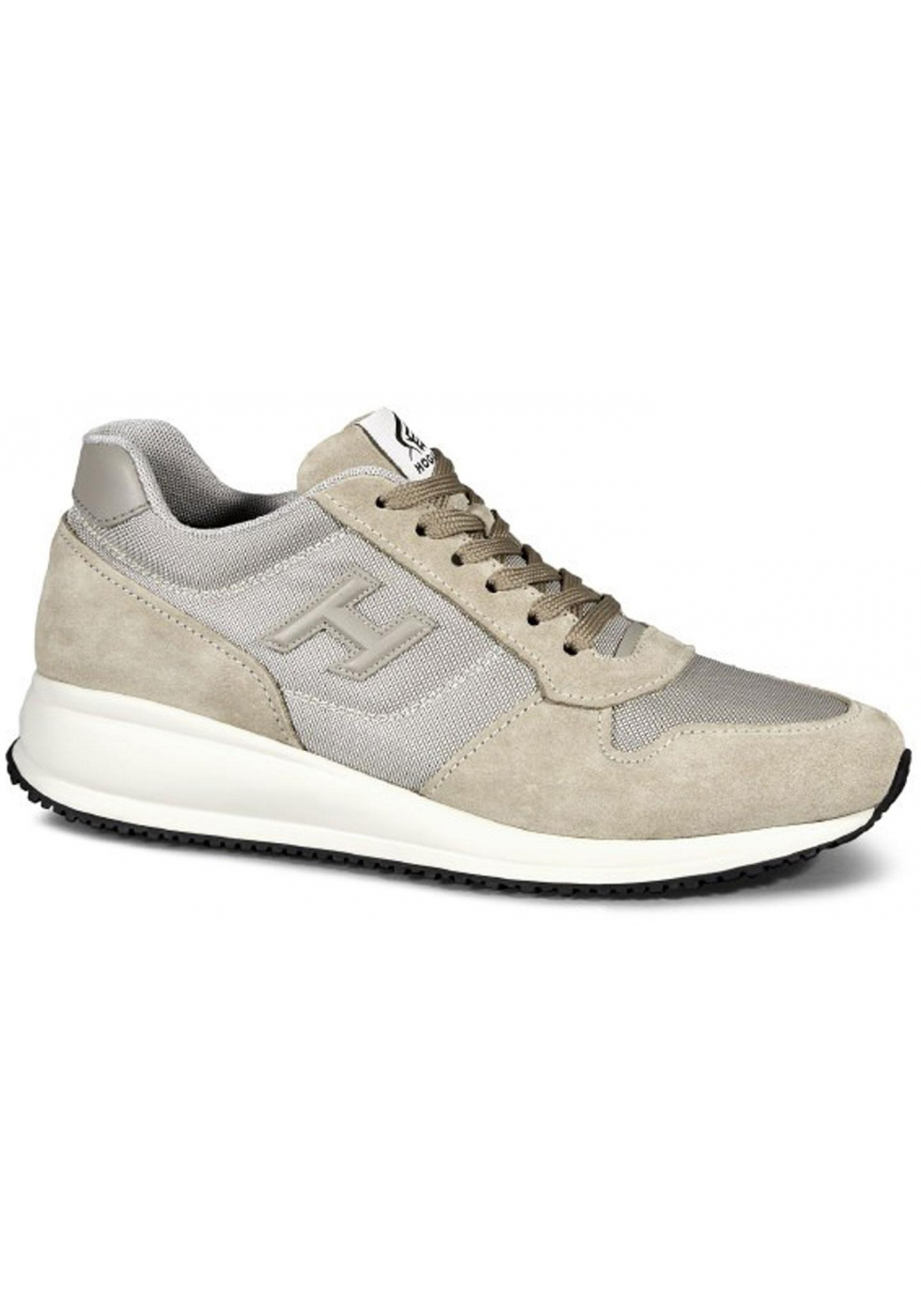 Hogan Interactive N20 Men's sneakers shoes in beige Leather