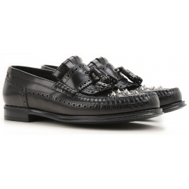 Dolce&Gabbana men's loafers in black Calf leather