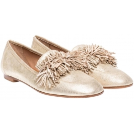 Aquazzura loafers in gold Suede leather