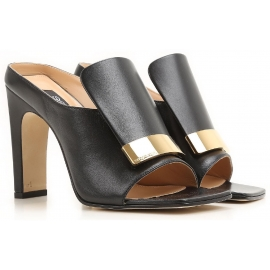Sergio Rossi high heels mules in black leather