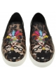 Dolce&Gabbana women's animal print slip-on sneakers