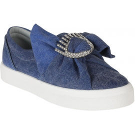Chiara Ferragni slip-ons sneakers in blue Canvas