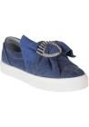 Chiara Ferragni slip-ons sneakers in blue Canvas