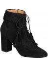 Aquazzura high heels booties in black Suede leather