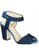 Giuseppe Zanotti high heel sandals in blue Tech fabric