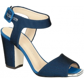 Zanotti high heel sandals in blue Tech fabric