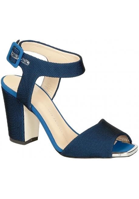 Zanotti high heel sandals in blue Tech fabric