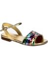 Dolce&Gabbana child flats sandals in golden Lamé leather