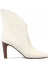 Chloé ankle boots women booties in beige Leather Fabric