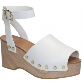 Céline wedges clogs sandals in white Calf leather