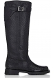 Saint Laurent knee high boots in black Python skin