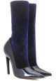 Balenciaga midcalf booties in blue Patent Leather