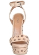 Alaïa wedges sandals in Nude Suede leather