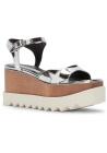 Stella McCartney vegan silver wedges sandals shoes