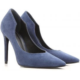 Kendall+Kylie heels pumps in blue suede leather