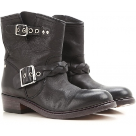 Golden Goose western ankle boots in black Leather