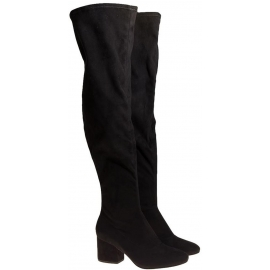 Kendall+Kylie thigh high boots in black Fabric