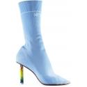 Vetements Light Blue elastic Boots with Lighter Heel
