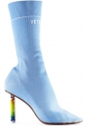 Vetements Light Blue elastic Boots with Lighter Heel