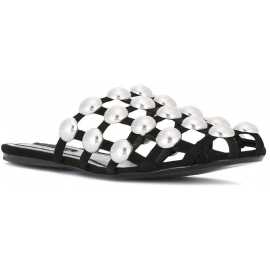 Alexander Wang women's slippers in black Leather