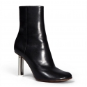 Vetements silver heel ankle boots in black Leather
