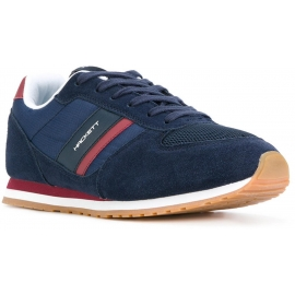 Hackett men's sneakers in blue Leather and Fabric
