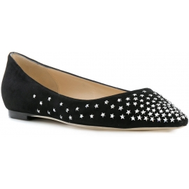 Jimmy Choo ballerinas in black Suede leather crystal stars