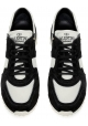 Valentino men's sneakers in black Leather white Fabric