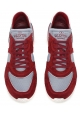 Valentino men's sneakers in burgundy suede leather and fabric