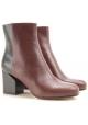 Maison Martin Margiela two tone leather booties